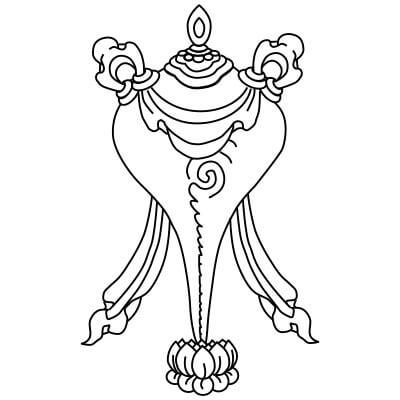 buddyjska muszla