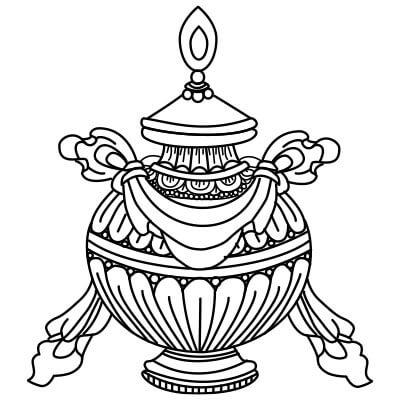 buddyjska drogocenna waza skarbów