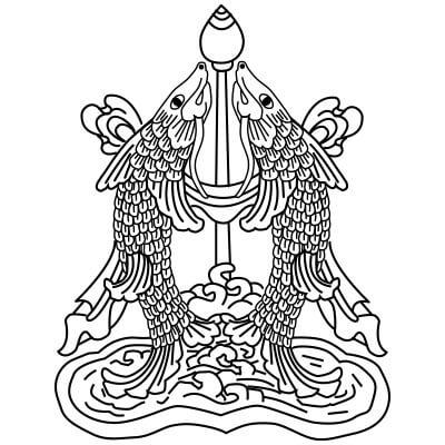 dwie złote ryby buddyzmu